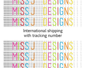 International shipping option with tracking number GBP5.00. Top Up Feature.