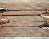 Hand-painted, Wooden, Decorative Arrows (2 pc.)