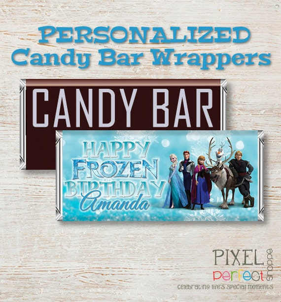 PERSONALIZED Frozen Candy Bar Wrapper, Disney Frozen, Candy Bar Wrapper, Frozen Candy Wrapper, Frozen Candy, Frozen Wrapper, Disney Candy