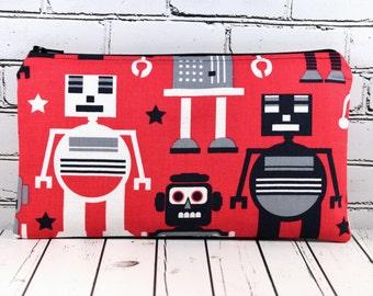 Caja de lápiz de robot, lápiz caso, útiles escolares, bolsa de Gadget niño
