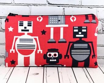 Robot Pencil Case, Boy's Pencil Case, School Supplies, Gadget Bag