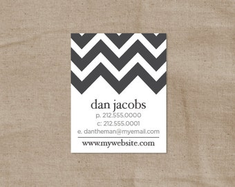 Chevron Calling Cards - Zig Zag Business Cards - Striped Contact Cards - Set of 50