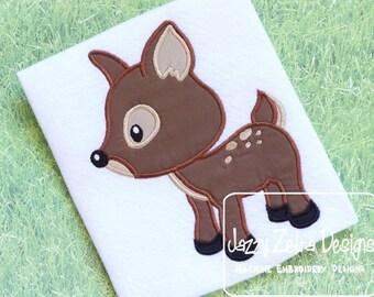 Fawn Applique Embroidery Design - Deer Applique Embroidery Design - deer appliqué design