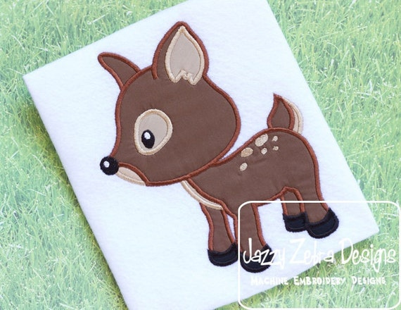 Fawn Applique Embroidery Design - Deer Applique Embroidery Design - deer appliqué design