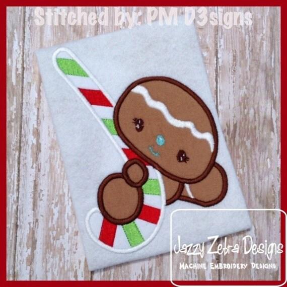 Boy Gingerbread 35 Appliqué embroidery Design - boy Appliqué Design - Gingerbread Appliqué Design - gingerbread man Applique Design
