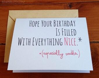 Funny Birthday Card / Humor Birthday Card / Friend Birthday Card / Fun Birthday Card / Adult Birthday Greeting Card