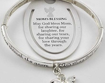 INSPIRATIONAL Mother's Blessing, Bracelet-with Angel Charm
