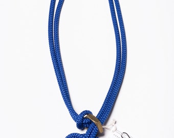 Clover Knot Necklace - rope necklace, knot necklace, macrame necklace, blue necklace