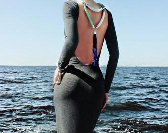 LORD VON TASSEL rope statement necklace