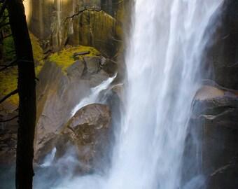 Waterfalls Photo | Yosemite Falls Photo | Vernal Waterfall Photo | Yosemite Park Art | Waterfall Photo | California Nature | National Park