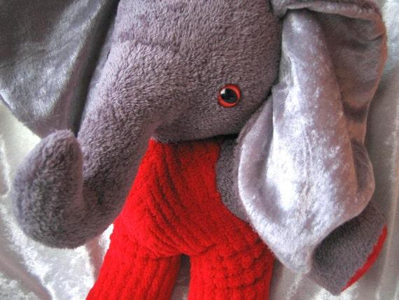 Red Pants Elephant Firefighter Home Decor Soft Stuffed Plush