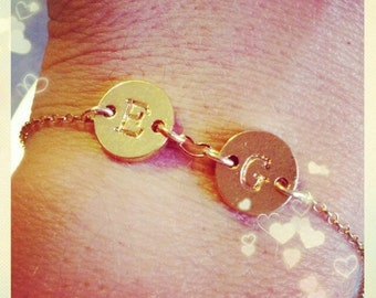 Bracelet initial in gold