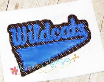 Wildcats Digital Machine Embroidery Applique Design 6 sizes, wildcats applique, wildcats mascot, wildcats word, wildcats name, wildcats team