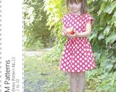 Girl's Dress Pattern No.13 - pdf sewing pattern - Sizes 2 to 10
