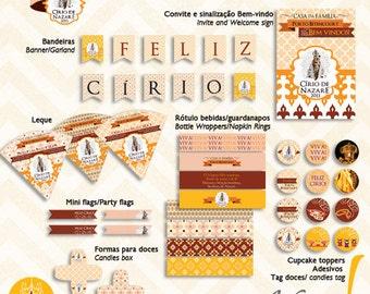 Cirio de Nazare Theme, from Brazil - Custom Printable Party Collection
