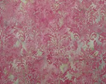 Pink Scroll batik - 1 yard -  (BT073)