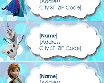 Disney Frozen Printable Address Label