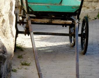 Turkish Cart - Digital Photography - Turkish Photography, Turkish Wall Art, Turquoise Cart, Travel Photography, Travel Art, Wanderlust Photo