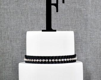 Letter F - Initial Cake Topper, Monogram Wedding Cake Topper, Custom Cake Topper