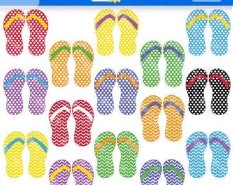 Summer Flip Flops Clipart, Sandles Clip Art, Summer Clipart, Flip Flops Vector, Flip Flops Clip Art, Summer Clip Art, Summer Vector.