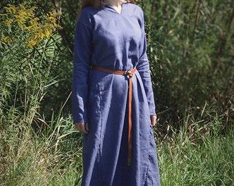 Early Medieval Underdress, linen, viking slavic dress, costume