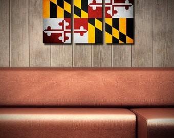 Maryland Flag Triptych (w/ Free Shipping!)