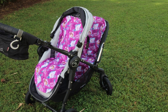Universal Stroller Liner Frozen Sisters And Black Chevron