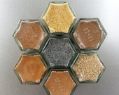 BAKING SPICES, magnetic spice rack, spice kit,  DESSERT  spices, for mom, kitchen storage, spice storage, spice rack, spice jars.