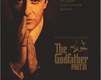 27 X 40 Vintage Movie Poster -  'The Godfather III' - Al Pacino, Diane Keaton