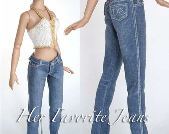 Sewing pattern for 16 inch fashion dolls:  Her Favorite Jeans