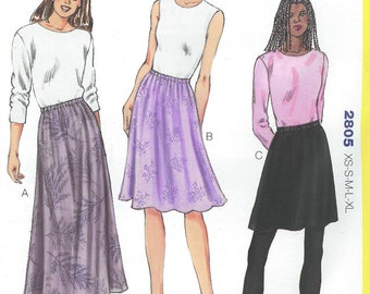 Sewing Pattern - OUT OF PRINT Pullon On Skirt in Three Lenghts- Kwik Sew # K2805