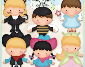Halloween Costume Kids 1 - Digi Web Studio Clip Art Download by Kristi W. Designs for Personal & Commercial Use