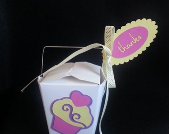 10 - Cupcake Chinese Take-Out Favor Boxes - Party Favor