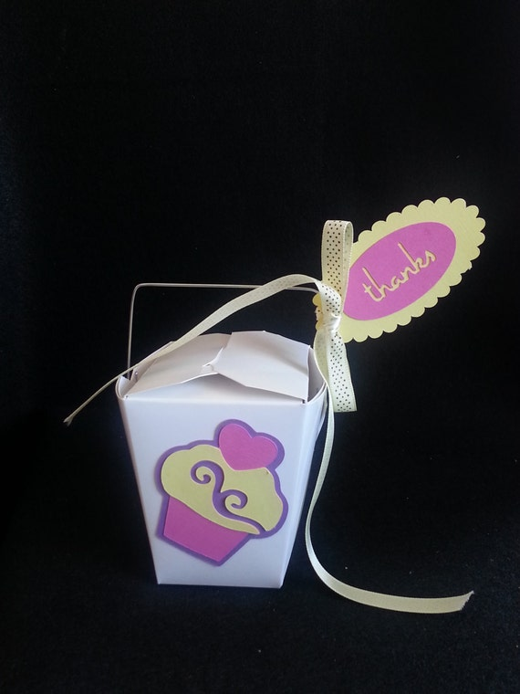 10 Cupcake Chinese Take-Out Favor Boxes by CreativeHandzDesignz