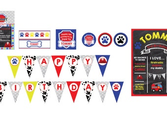 Paw Patrol Birthday Party- Paw Patrol Birthday Theme- Paw Patrol Theme- Paw Patrol Party Decorations