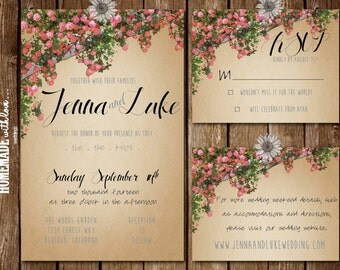 Popular items for forest invitations on etsy - Enchanted garden collection free download ...