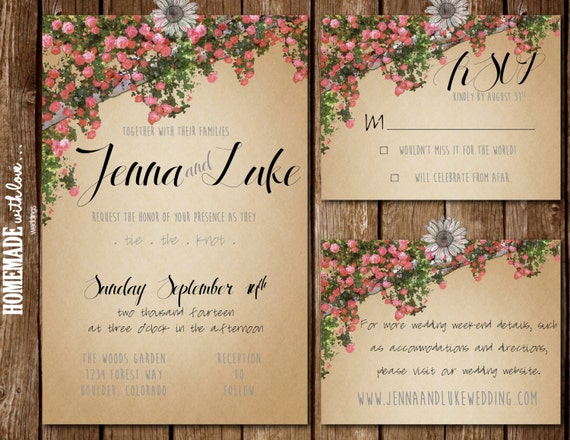 Enchanted Forest Themed Wedding Invitations: Items Similar To The Enchanted Forest Collection