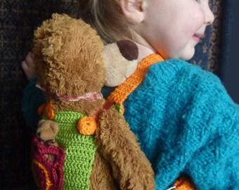 Doll carrier crochet pattern, PDF, baby carrier for children, 006.