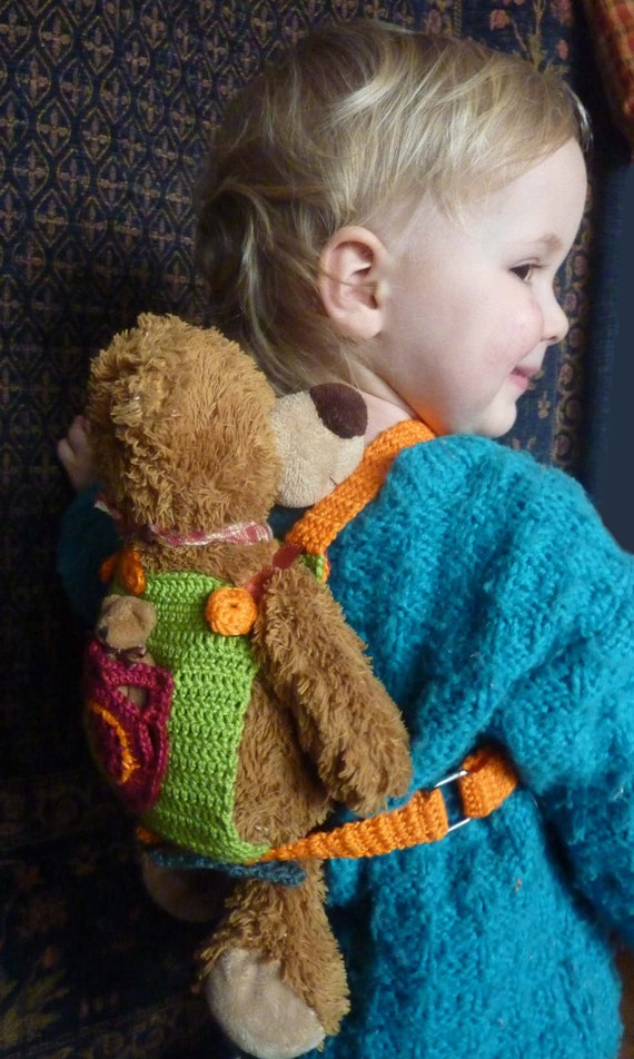 Knitting Pattern For Doll Carrier : Doll carrier crochet pattern, PDF, baby carrier for children, 006. from Mamas...
