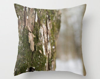Moss Covered Oak Tree Pillow Cover - Moss Green - Moss Pillow Cover - Throw Pillow Cover - Oak Tree Photo Pillow Cover - Photography Decor