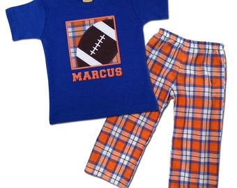 Boy's Football Outfit with Football Shirt with Matching Plaid Pants - P2
