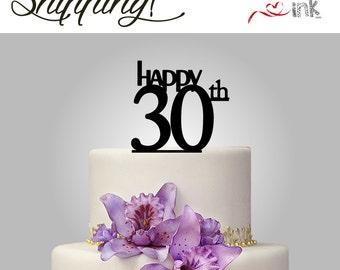 30th birthday cake topper or Anniversary Cake Topper - Personalized Cake Toppers-custom cake toppers