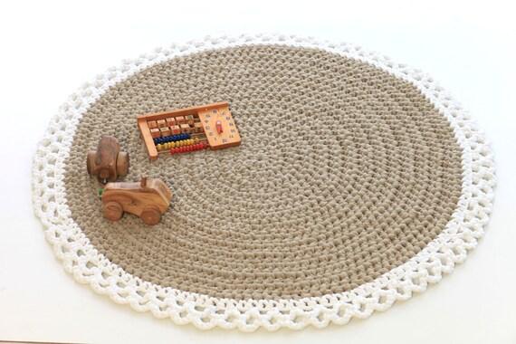 ... tappeto cotone, tappeto a maglia, tappeto Beige, tappeto fatto a mano