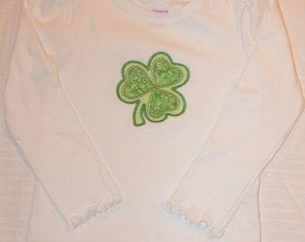 St. Patrick's Day, Lucky Charm Shamrock Shirt, Girls St. Patrick's Day Shirt, Shamrock shirt. Size 3T