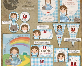 Dorothy Wizard of Oz Printable Party Package