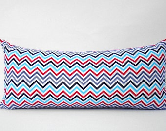 chevron pillow, geometric cushion, zig zag pillow, throw pillow, accent pillow, cushion, multicolor chevron