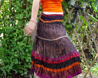 Heart of Gold - Uniqie Skirt - Festival - Fairy Elven Skirt - Pixie Skirt - Burning man