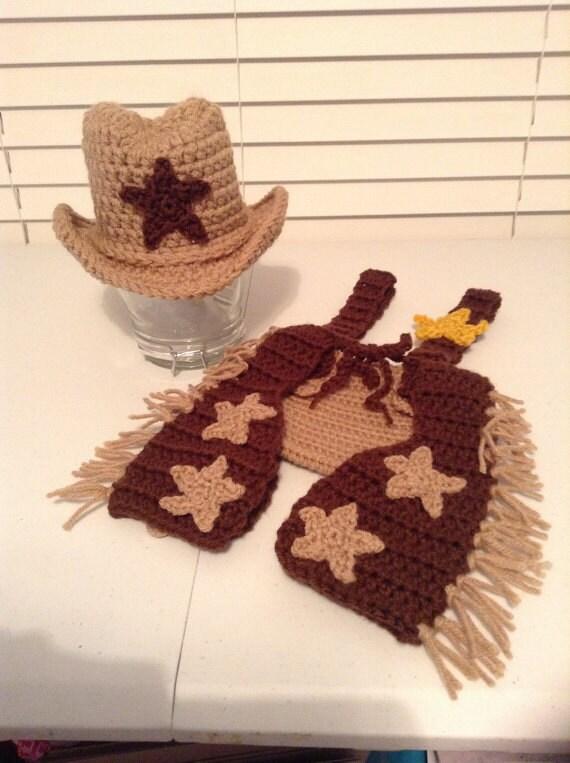 Crochet Baby Cowboy Chaps Pattern : Items similar to Crochet Cowboy Chaps Outfit Set ...