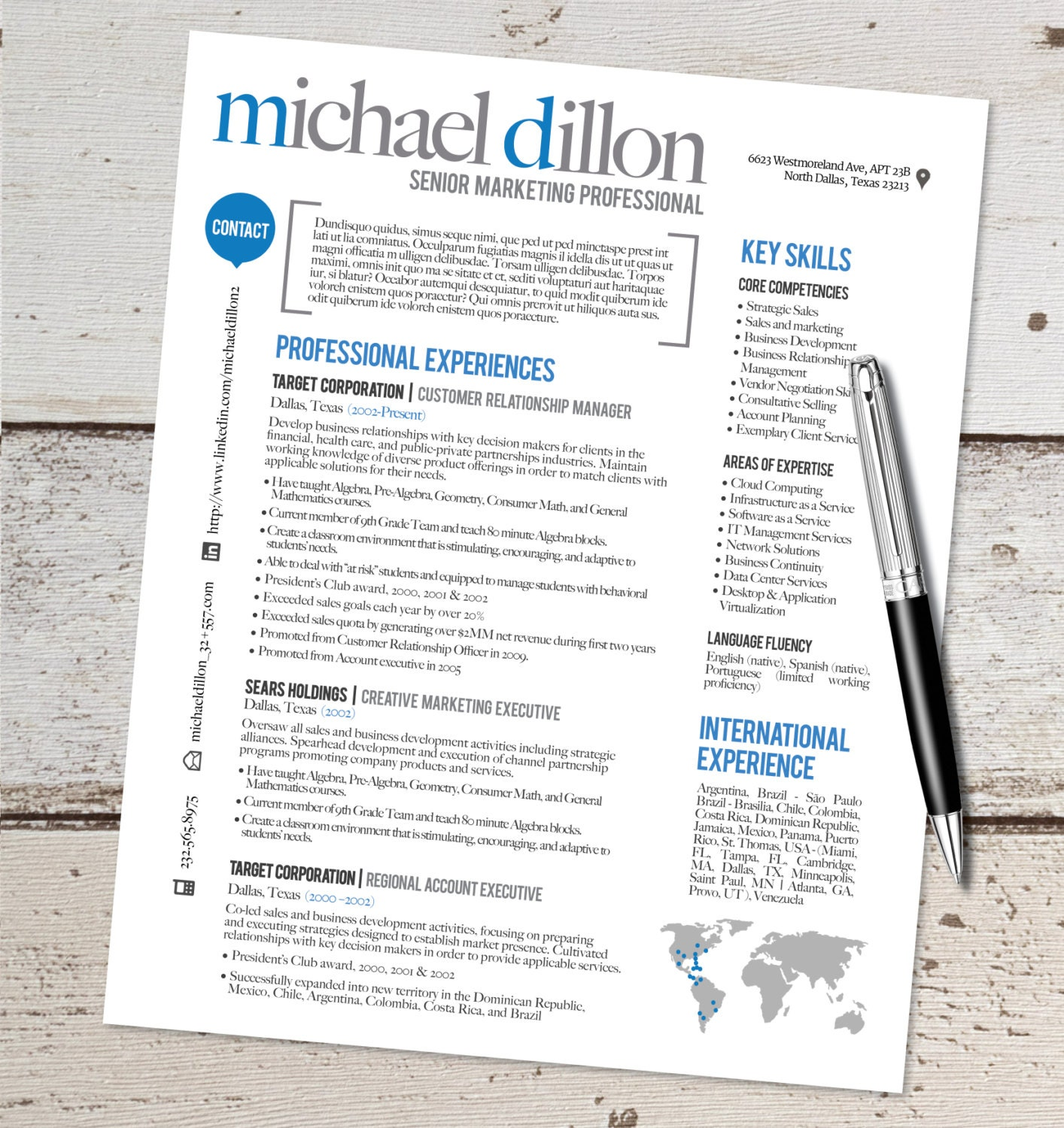 the michael resume design graphic design by vivifycreative