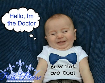 Doctor Who Baby Outfit Bow Ties Are Cool Doctor Who Outfit David Tennant 11th Doctor Who Inspired Whovian Fan Outfit Doctor Who Outfit